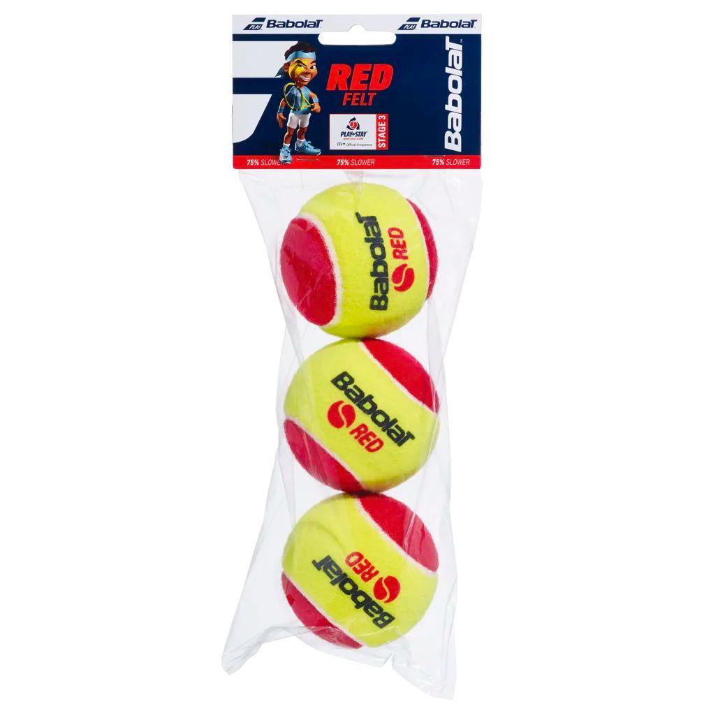 Bola Soft 3 Babolat Vermelha - Pacote 3 bolas
