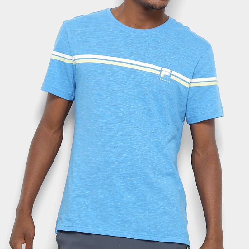 Camiseta Fila Masculina Stripe Azul