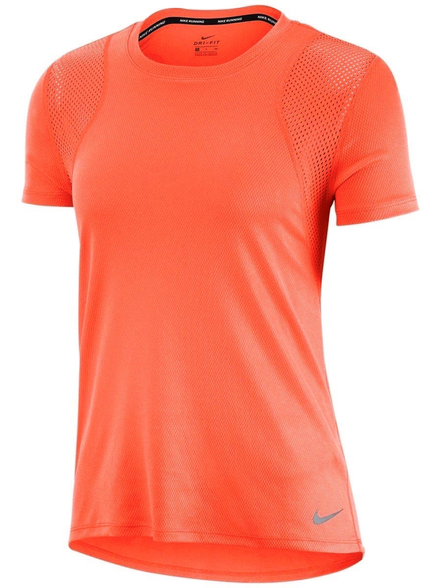 Camiseta Nike Dry-Fit Feminina Run Top Laranja