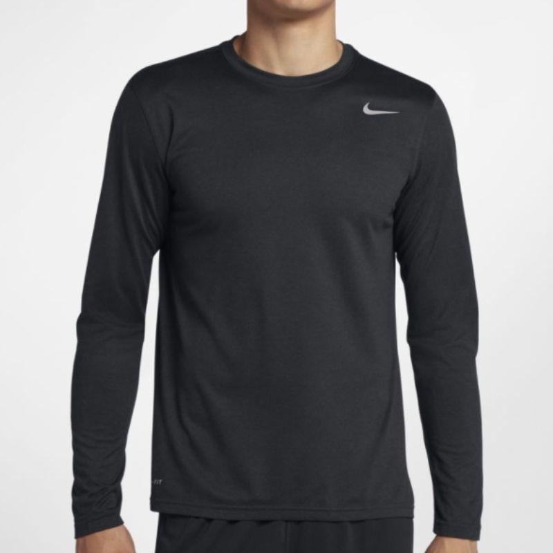Camiseta Nike Masculina Dry Tee Manga Longa Preta