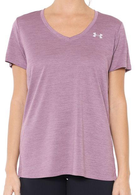 Camiseta Under Armour Feminina Tech Twist Gola V Roxa