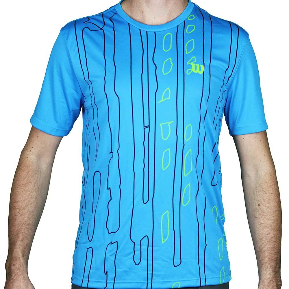 Camiseta Wilson Performance 2 Masculina - Azul Piscina