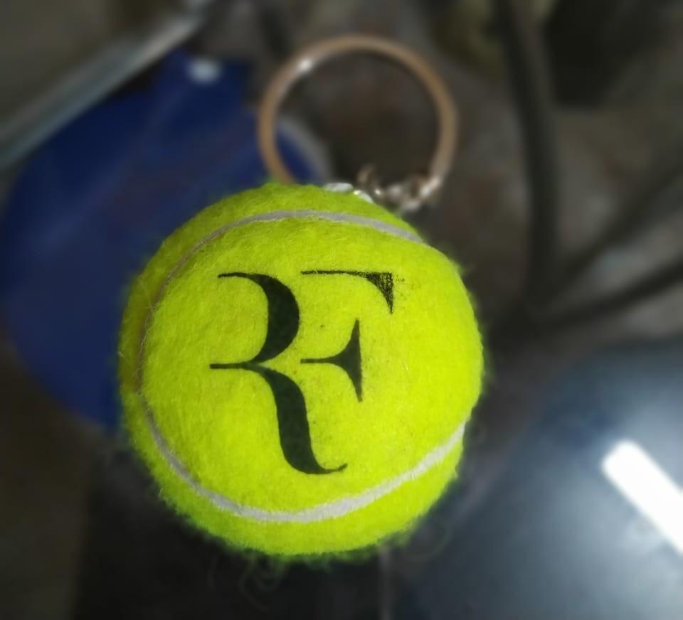 Chaveiro de Bola de Tênis - Federer