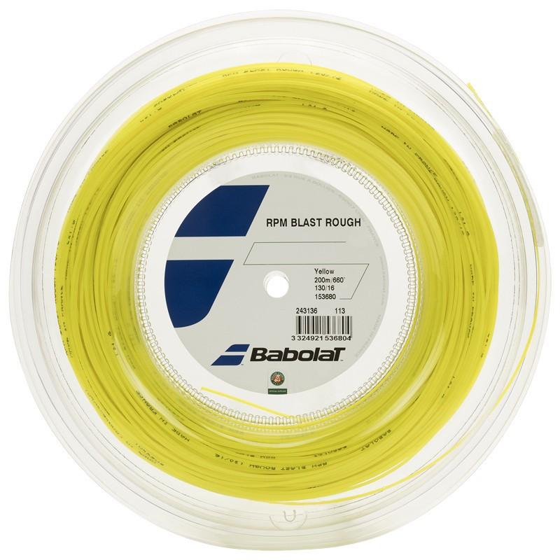 Corda Babolat RPM Blast Rough 16L 1.30mm Rolo 200mm Amarelo