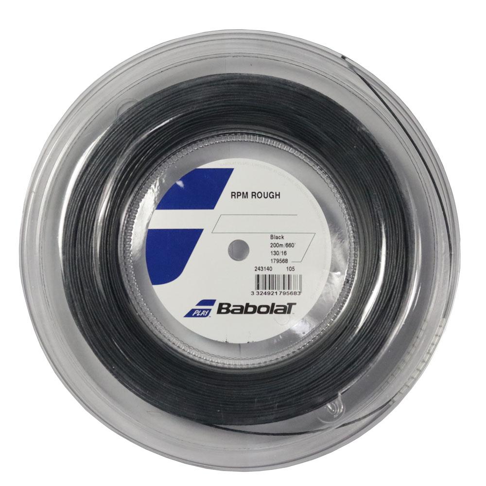 Corda Babolat RPM Rough 16 1.30mm Rolo 200m Preto