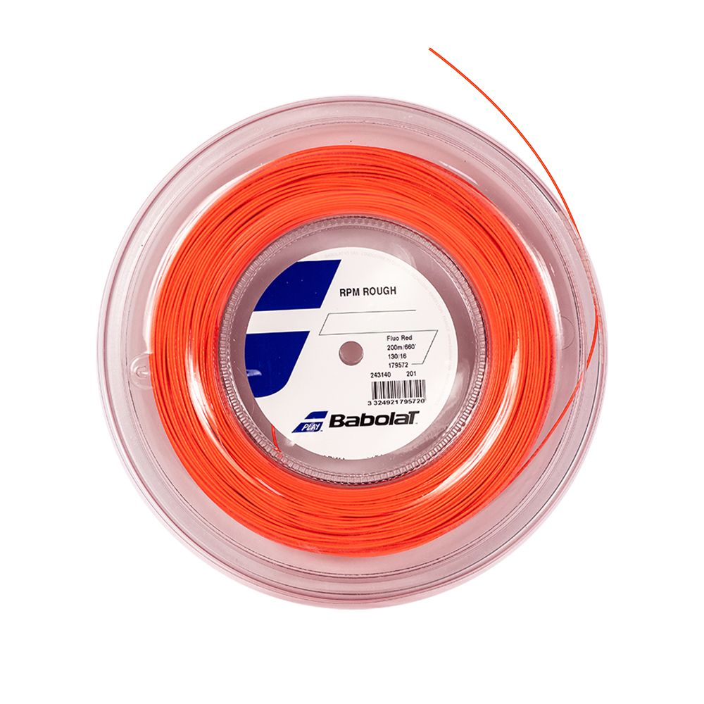 Corda Babolat RPM Rough 16 1.30mm Rolo 200m Vermelha