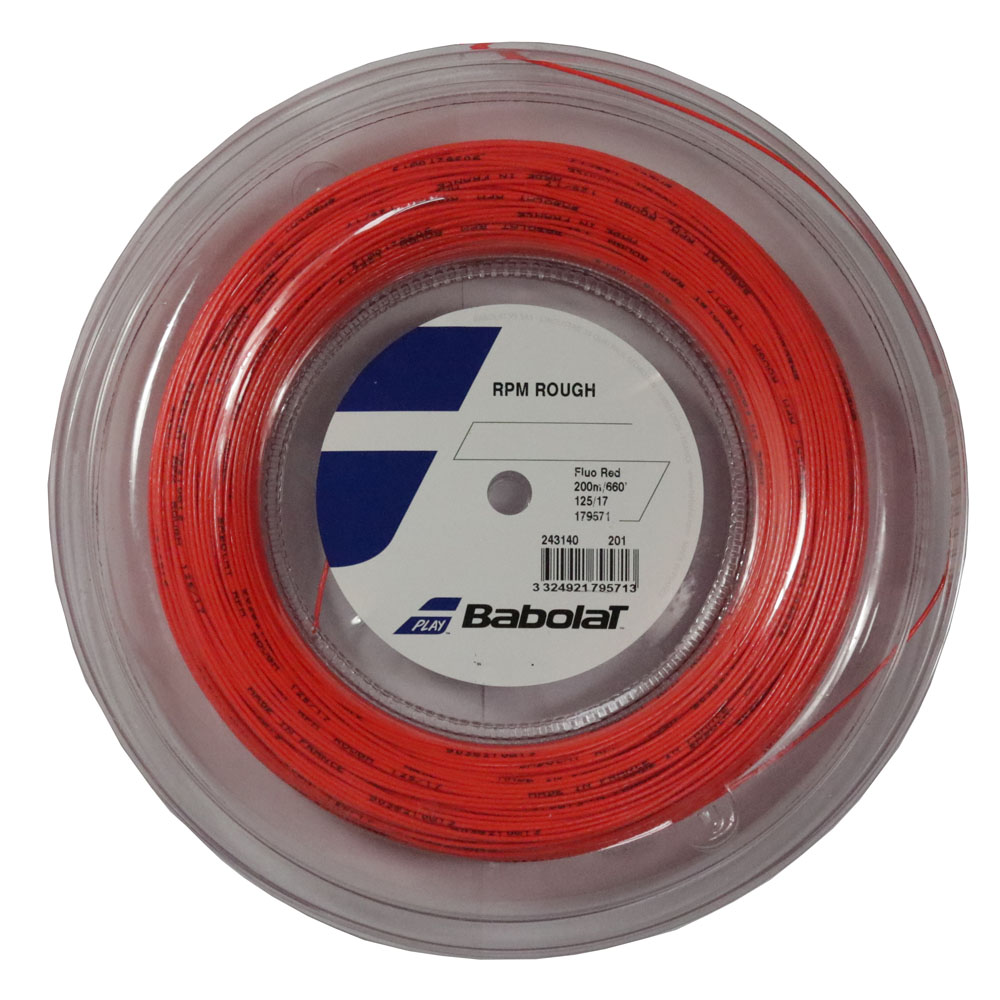 Corda Babolat RPM Rough 17 1.25mm Rolo 200m Vermelha