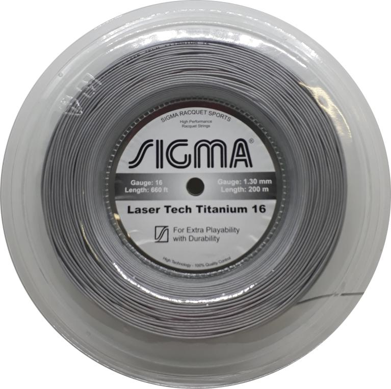 Corda Sigma Laser Tech Titanium 16 1.30mm Rolo 200m Prata