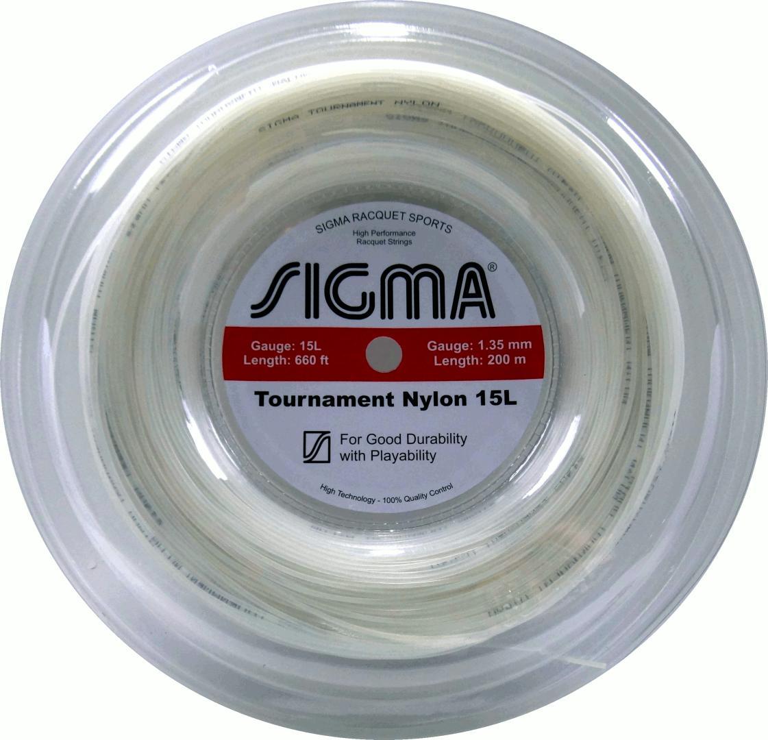 Corda Sigma Tournament Nylon 15L 1.35mm Rolo 200m Branca