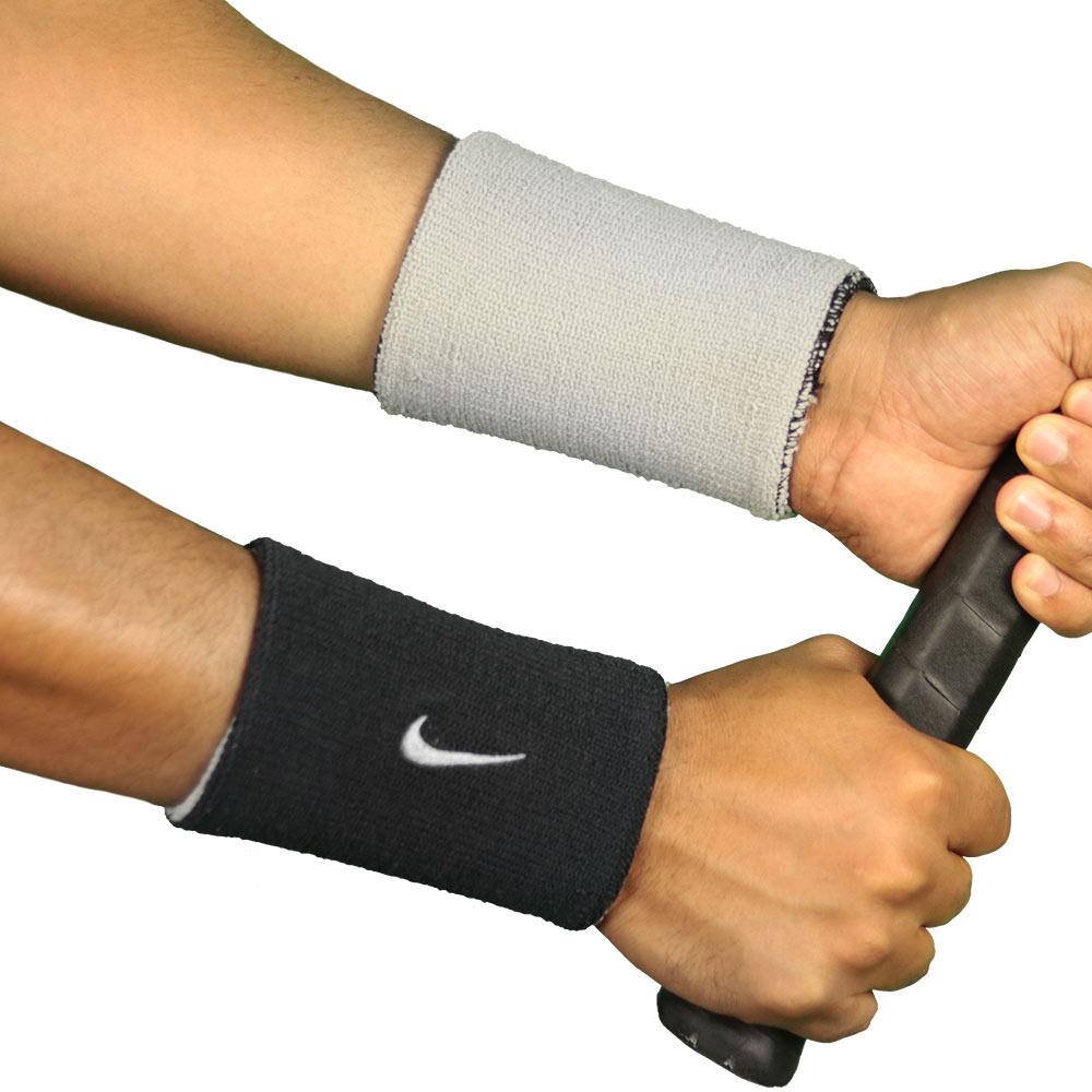 Par de munhequeiras Nike Dupla Face Dry-Fit Home Away