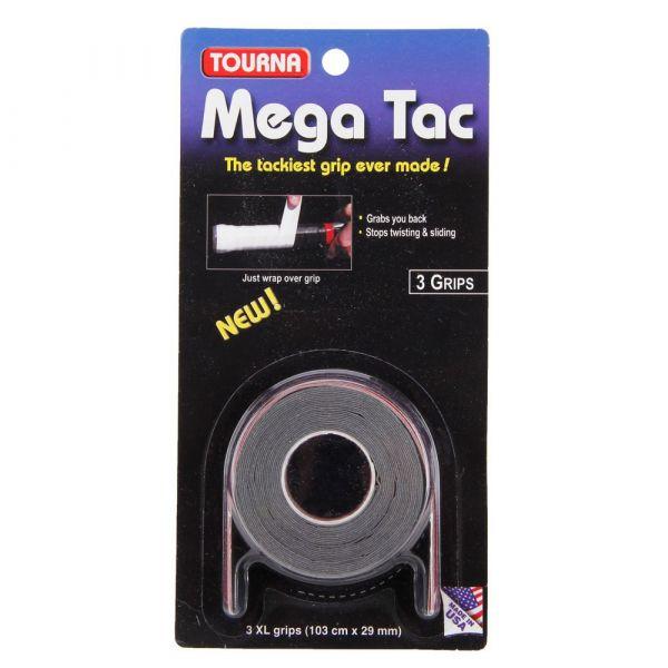 Overgrips Tourna Mega TAC com 3 unidades - Preto