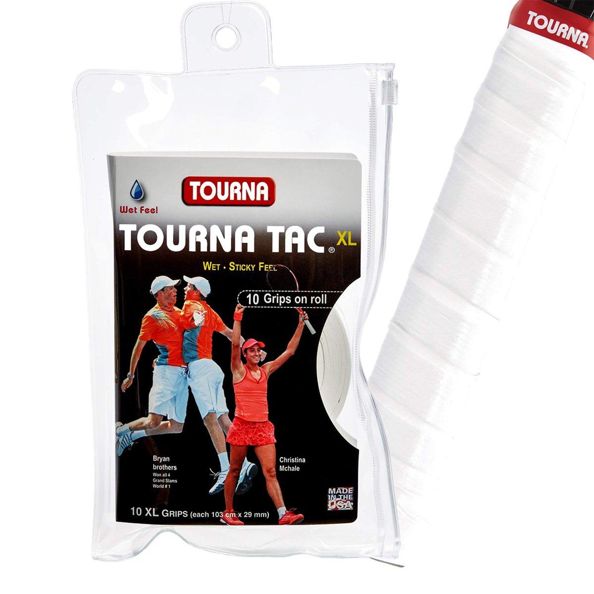 Overgrips Tourna TAC XL com 10 unidades - Branco
