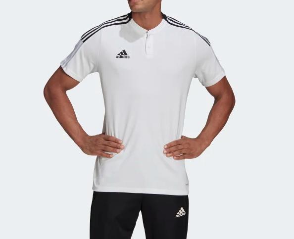 Polo Adidas Tiro 21 Masculina Branca