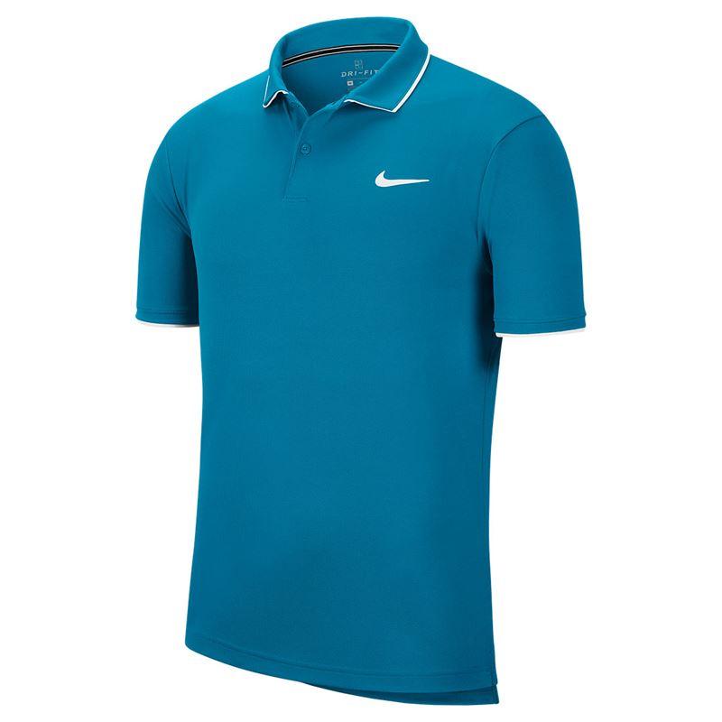 Polo Nike Dry-Fit Masculina Azul Turquesa