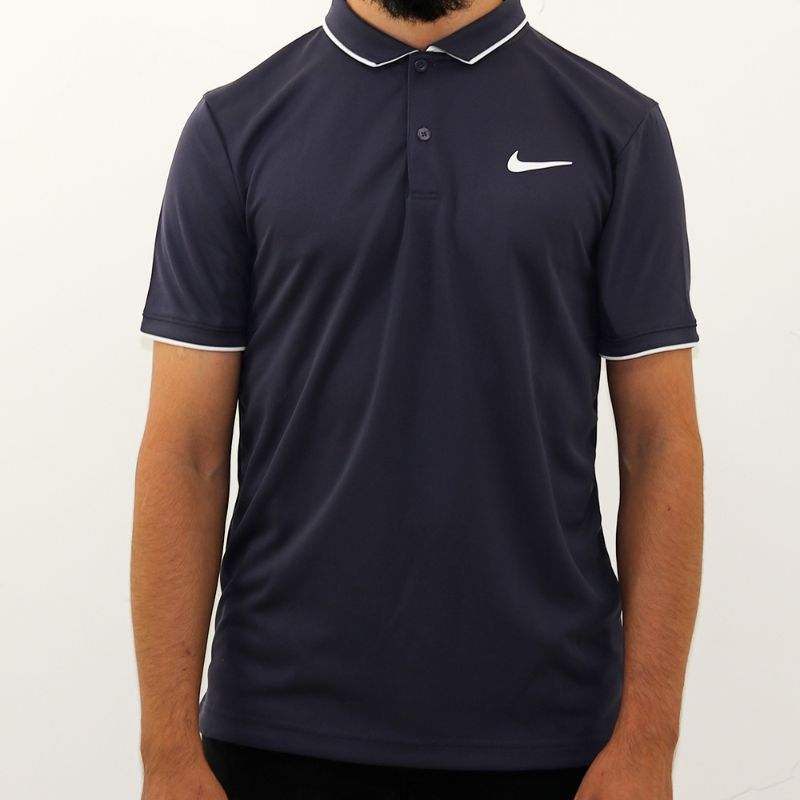 Polo Nike Masculina Nikecourt Marinho e Branca