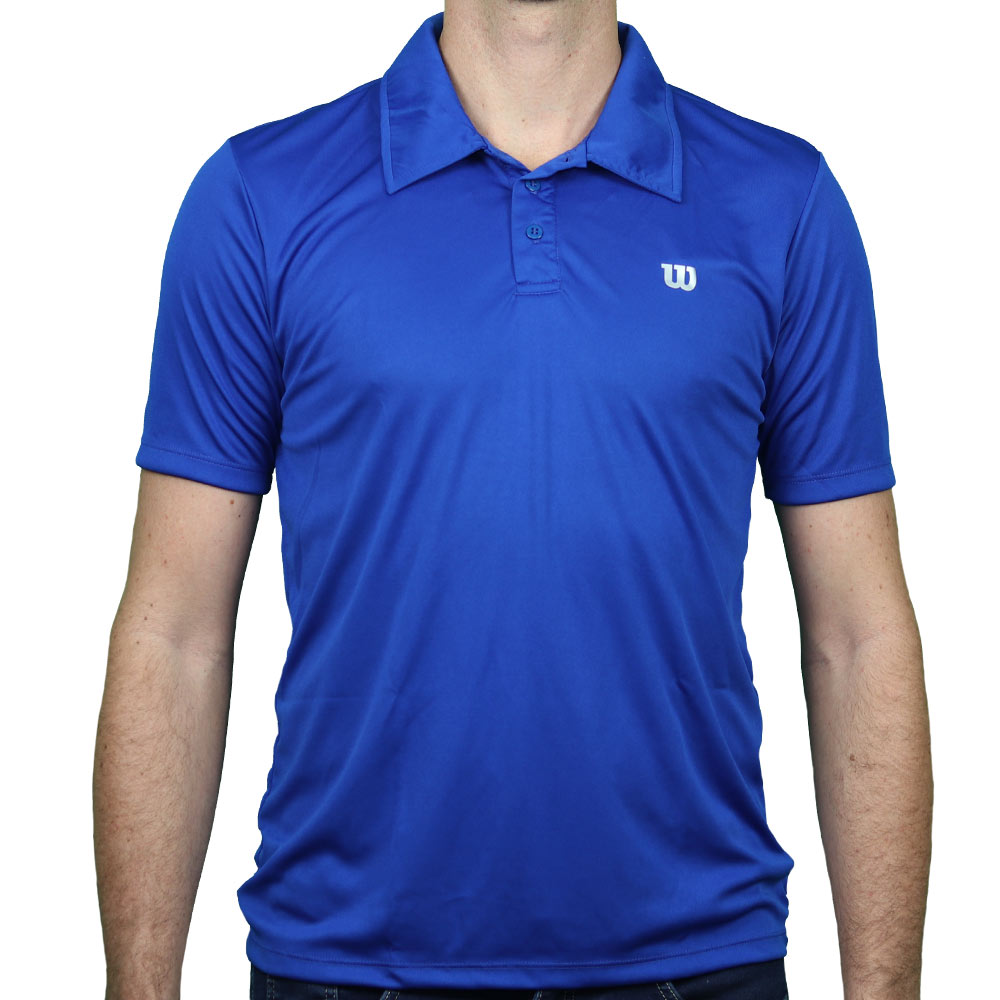 Polo Wilson Core Masculina Azul Royal