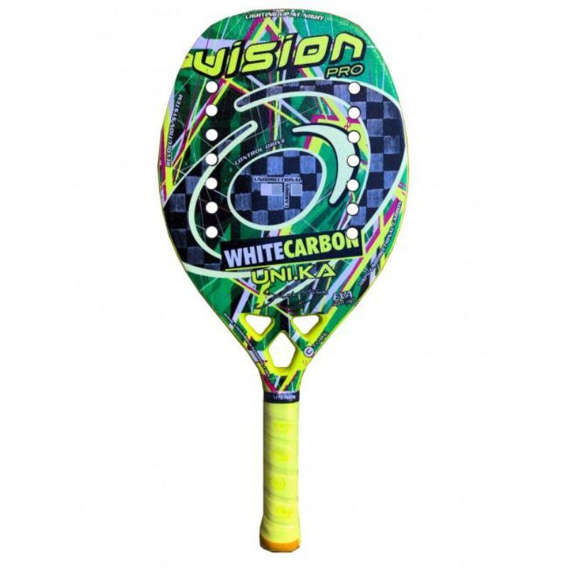 Raquete de Beach Tennis Vision White Carbon Uni.ka 2020