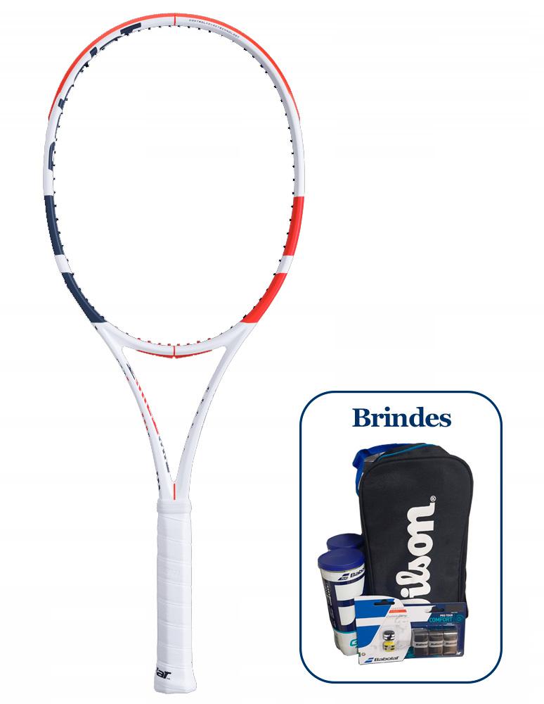 Raquete de Tênis Babolat Pure Strike 16x19 + Brindes