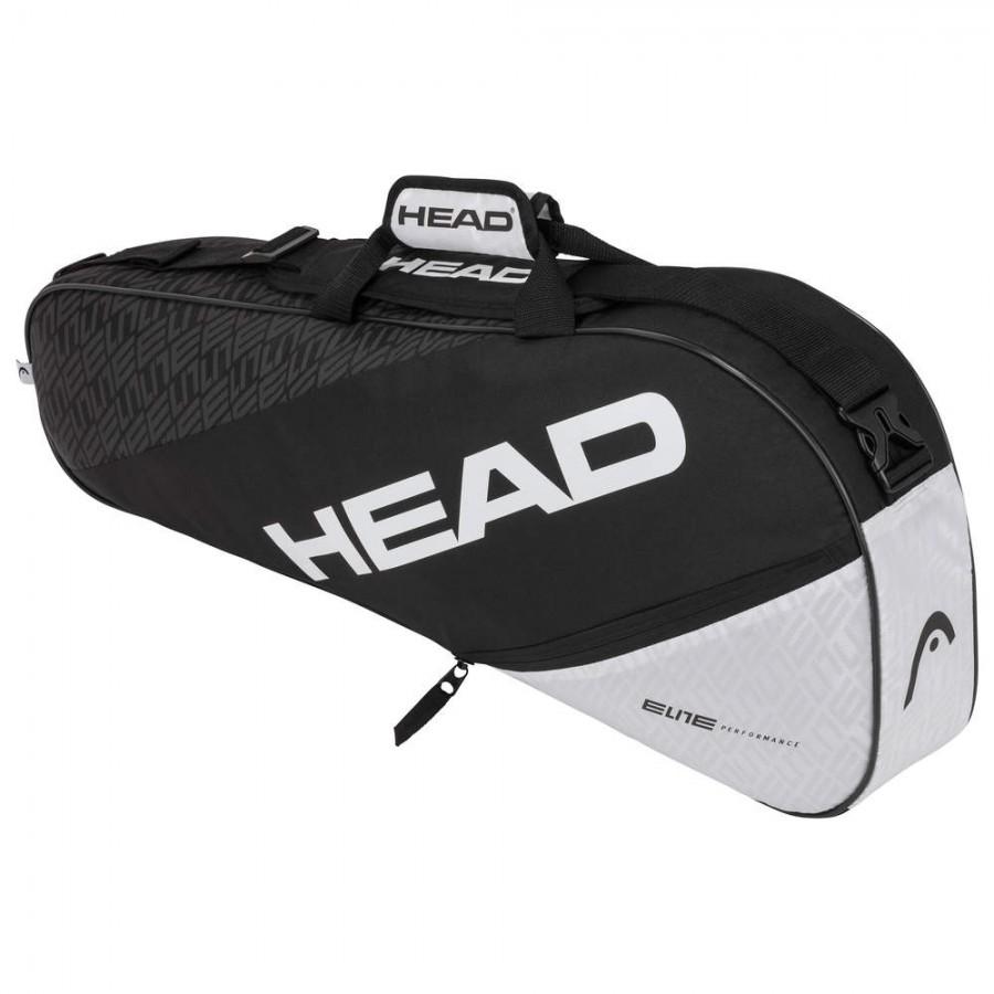 Raqueteira Head Elite 3R Preta e Branca