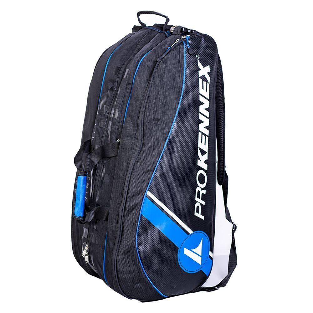 Raqueteira Prokennex Tripla Preta e Azul