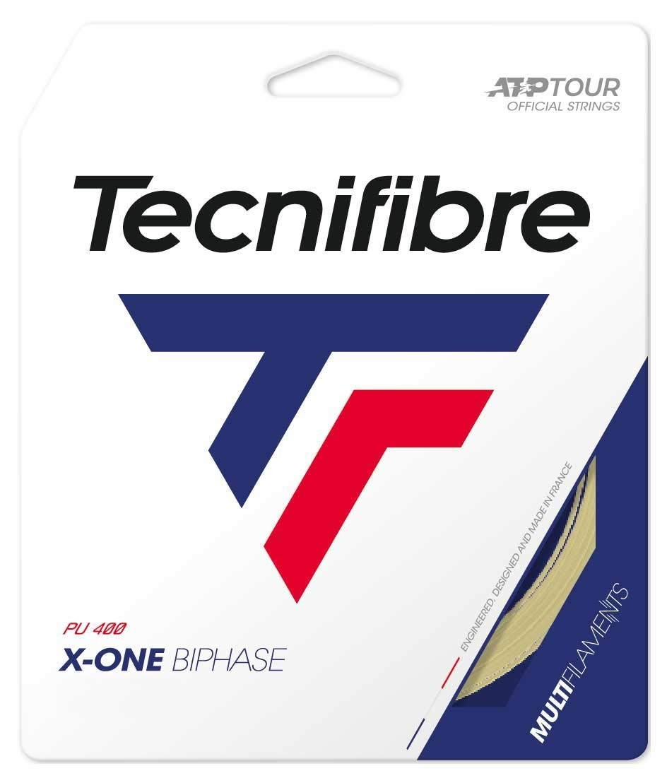 Set de Corda Tecnifibre X-One Biphase 16 1.30mm Natural