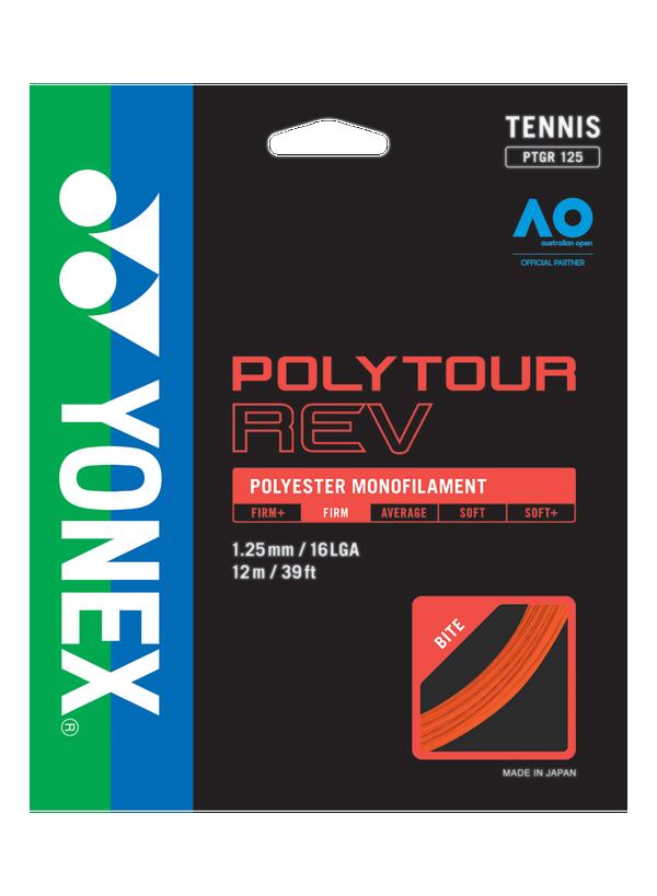 Set de Corda Yonex Poly Tour Rev 16L 1.25mm Laranja