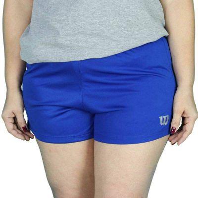 Short Wilson Core II Feminino Azul Royal