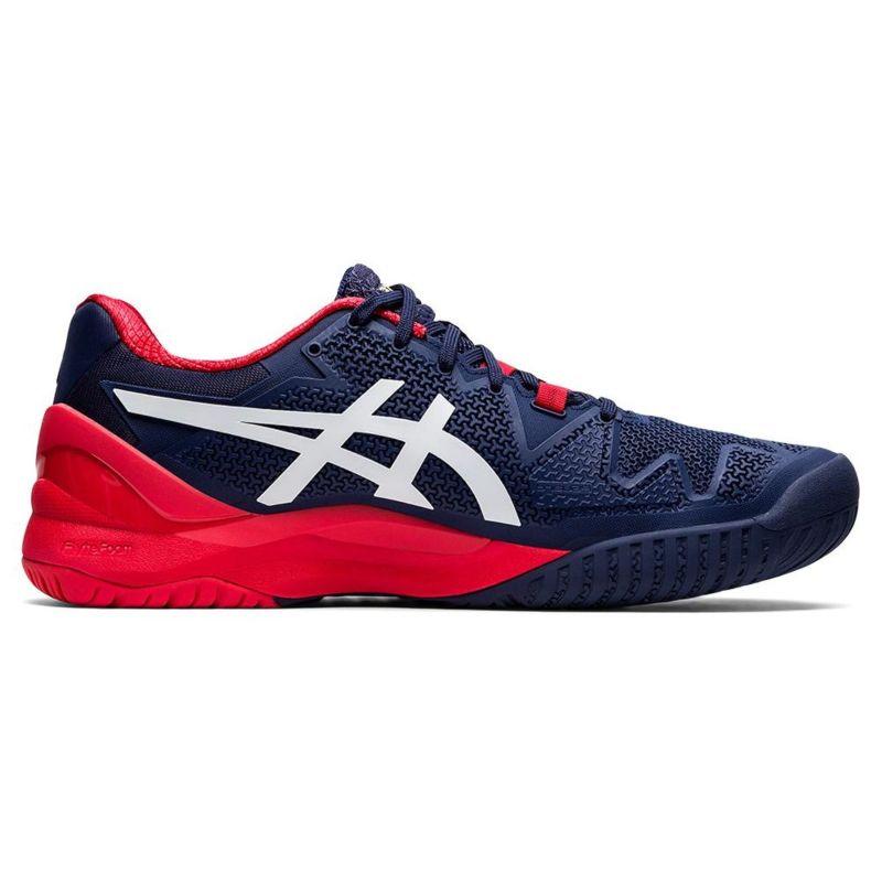 Tênis Asics Gel Resolution Clay 8 Masculino 2020 - Azul e Vermelho