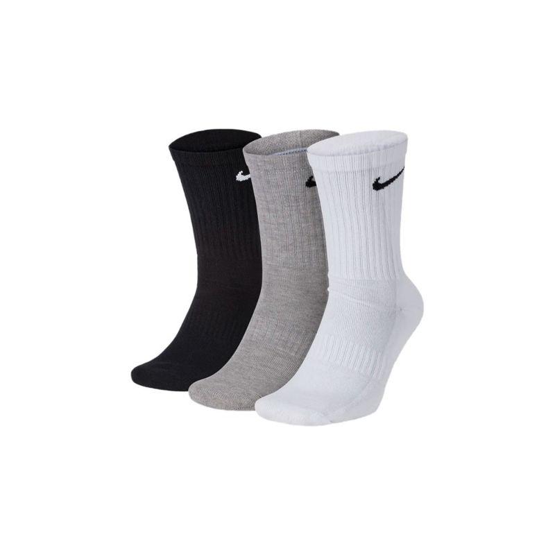 Tripack de Meia Nike Cano Longo - Preto Branco e Cinza