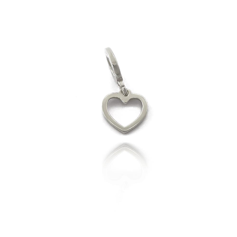 Berloque Coração Liso Vazado Prata 925 - 403050P
