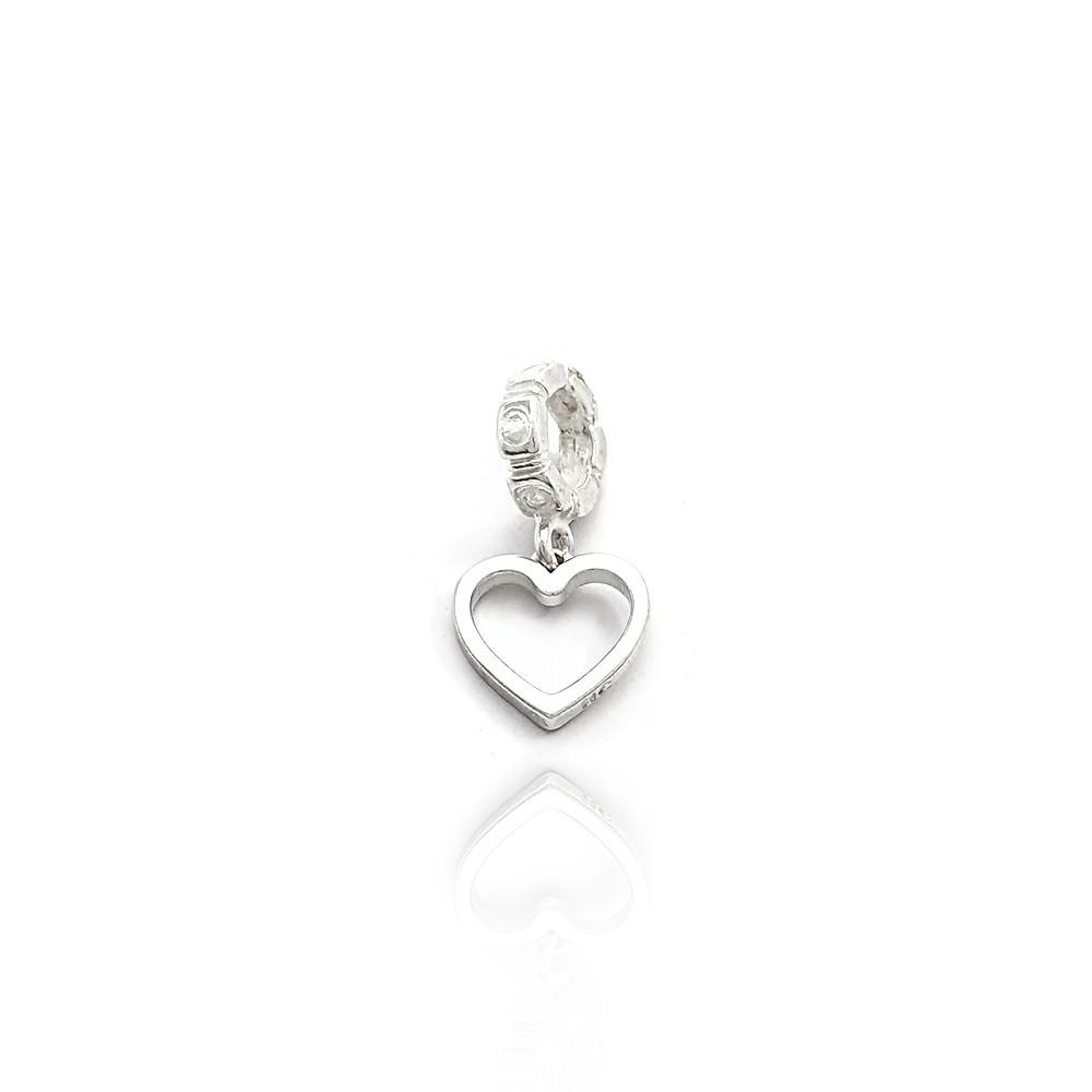 Berloque Coração Vazado Liso Prata 925 - 403023P