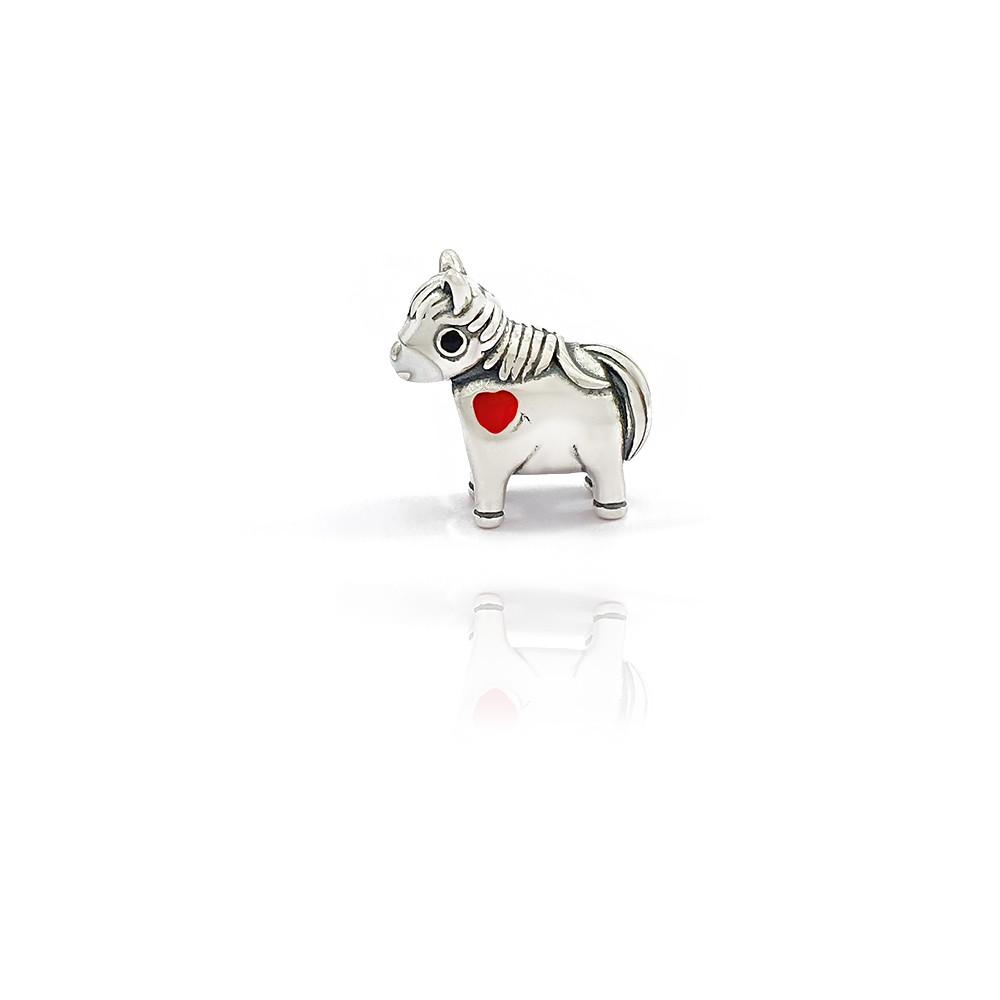 Berloque de Prata 925 Passante Ponei Cavalo - 403033P