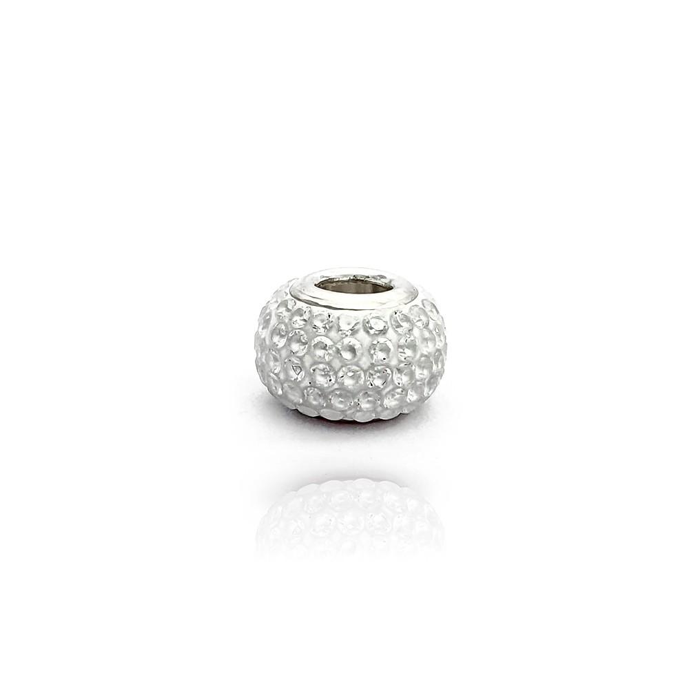 Berloque em Prata 925 Redondo com Cristal - 403020P