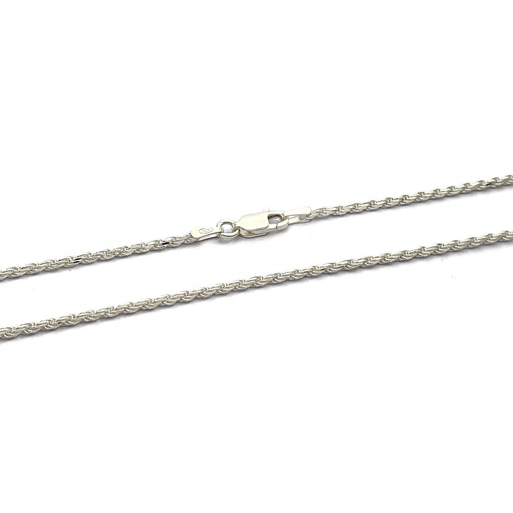 Corrente Cordão Baiano Prata 925 Fino 1.4mm com 45 cm - 409007P