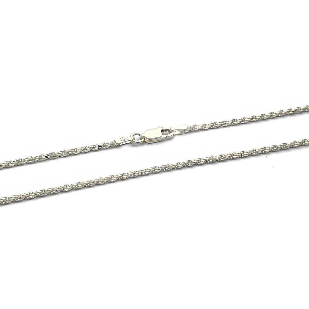 Corrente Cordão Baiano Prata 925 Fino 1.7mm com 45 cm - 409007P