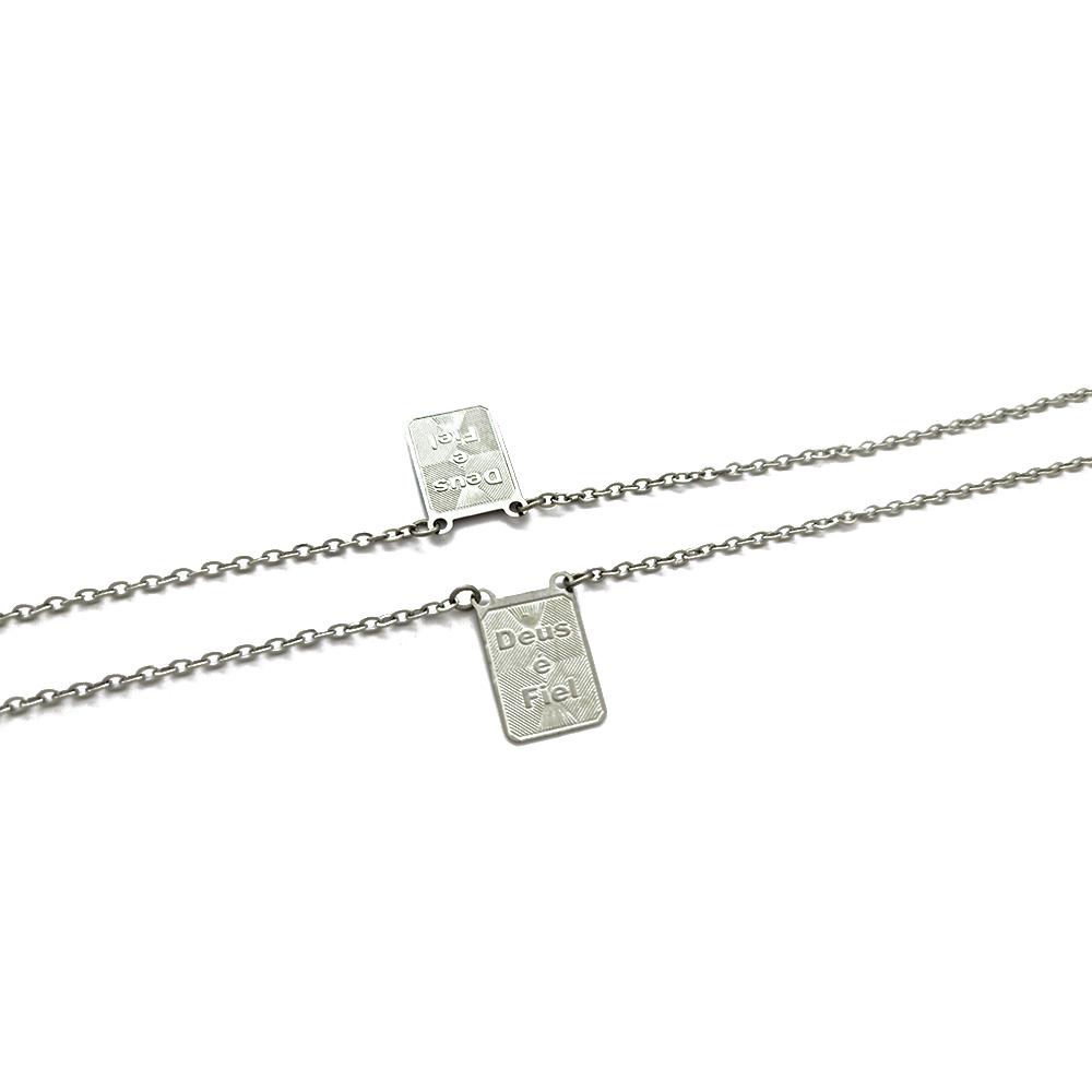 Corrente Escapulário Cartiers com Medalha Deus é Fiel - 609025AI