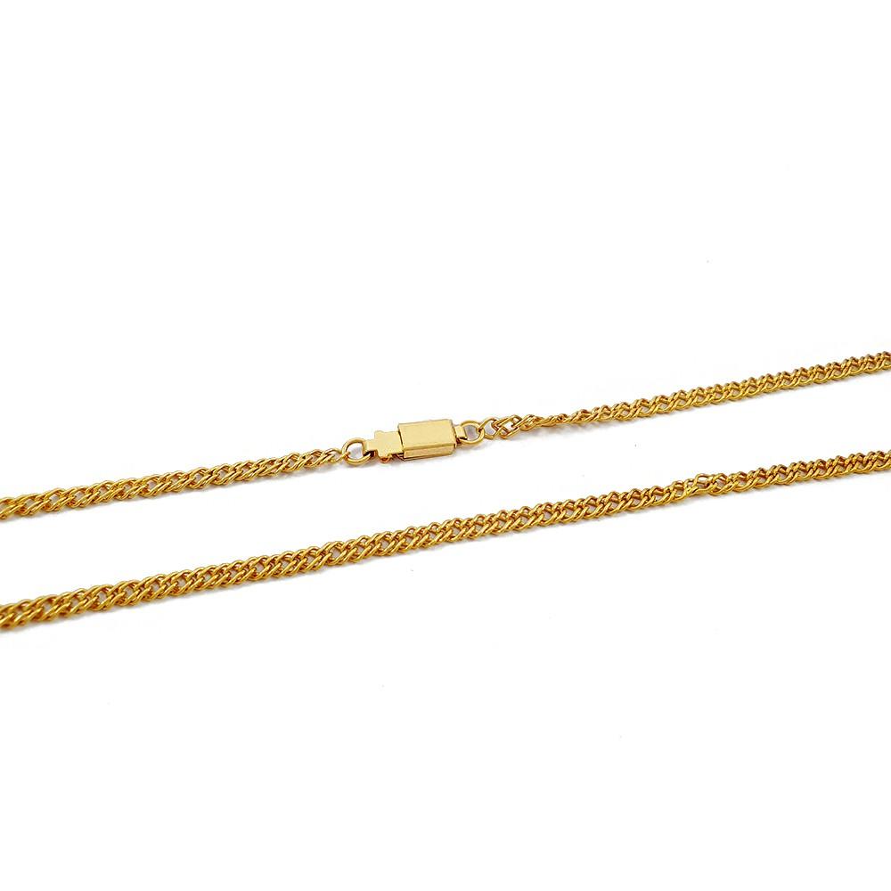Corrente Groumet Dupla 60 cm Semijoia - 809080A