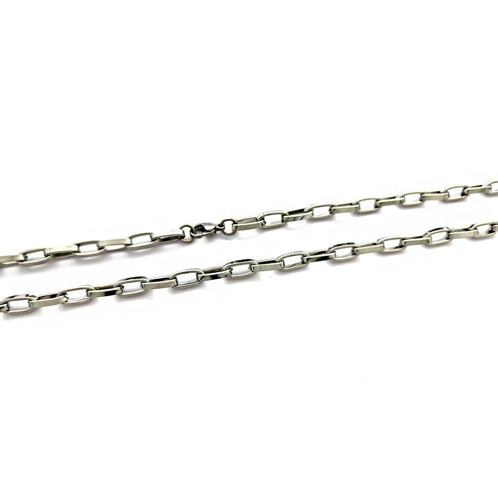 Corrente Masculina Cartiers 1x1 Elos Ovais Grande 5.7mm em Aço Inox - 609021AI