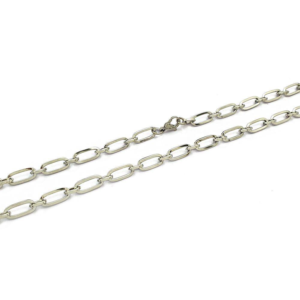 Corrente Masculina Cartier Grossa 1x1 com 60 cm - Aço Inox