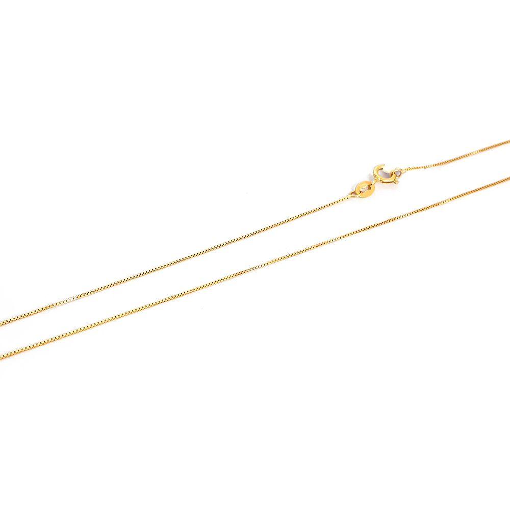 Corrente em Ouro 18K Veneziana Fina Clássica com 45 cm - 709001K