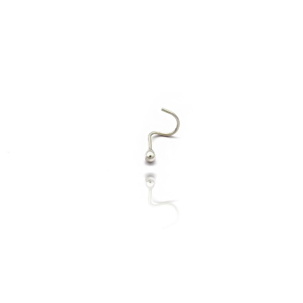 Piercing de Nariz bolinha simples em Prata 925 - 407001P