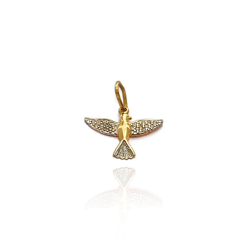 Pingente Espírito Santo com Zircônias Ouro 18k - 703009K