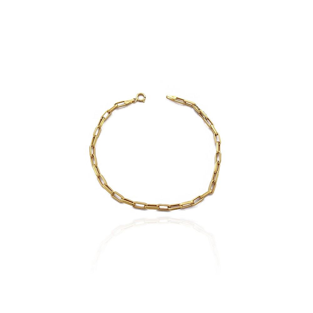 Pulseira Cartiers Masculina em Ouro 18K Elo Oval Oca com 20cm - 705010K