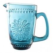 Jarra Woodstock em vidro 1,6L cor azul