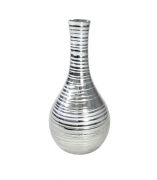 Vaso Decorativo de Cerâmica Prata 30 cm