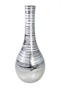 Vaso Decorativo de Cerâmica Prata 38 cm