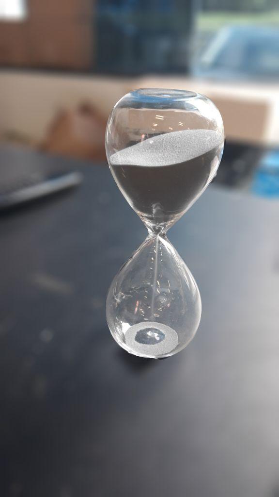 Ampulheta Vidro Clear Glass Prata 20 min.