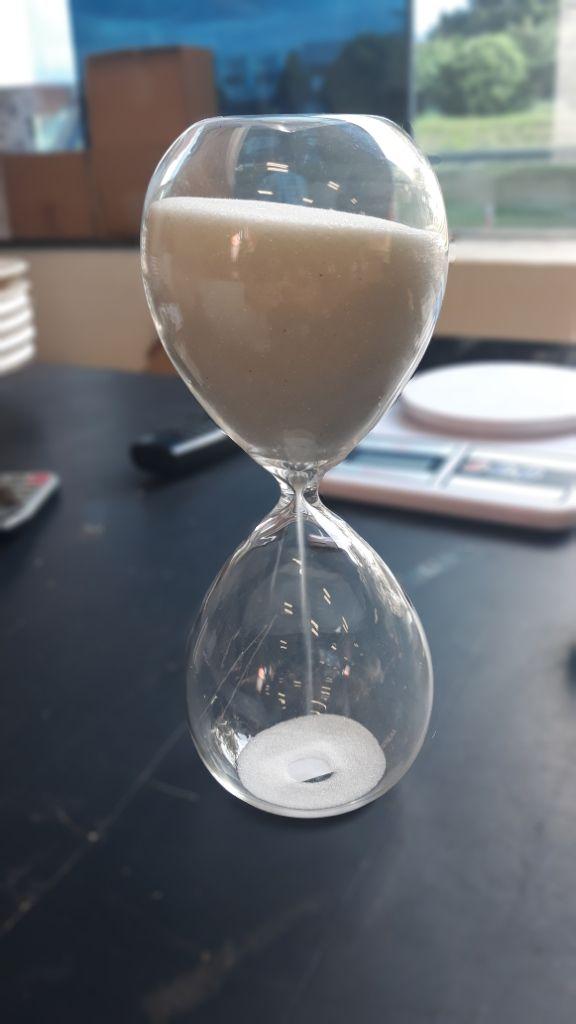 Ampulheta Vidro Clear Glass Branco 30 min.