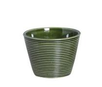 Cachepot Frisado Verde 7cm