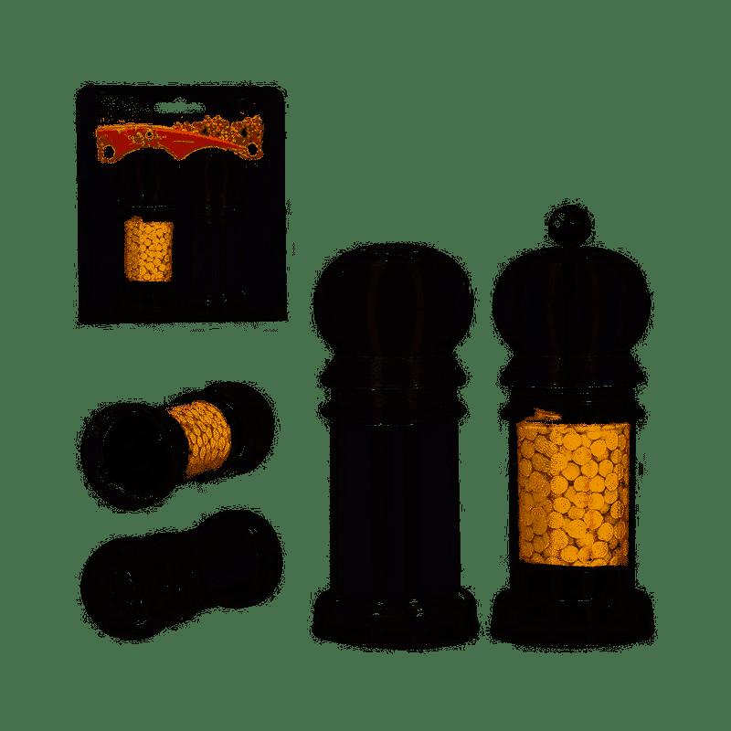 Conjunto com Saleiro e Pimenteiro Acrílico
